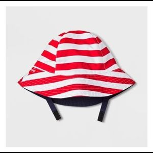 NWOT Baby Cat & Jack Striped Bucket Hat